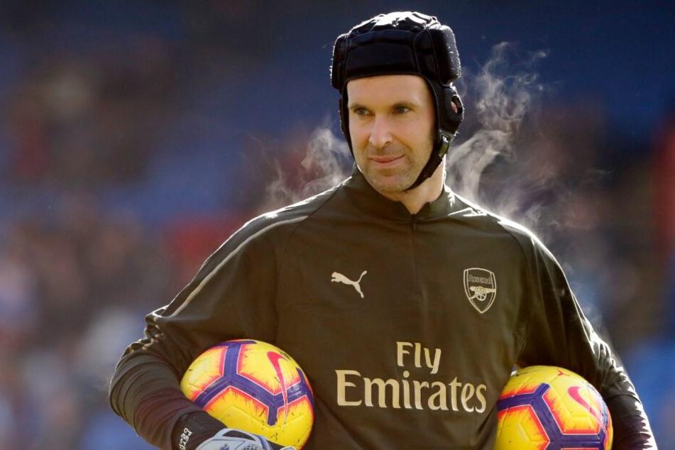 Torhüterlegende Petr Cech hat während seiner Spiele auch immer einen Helm getragen.