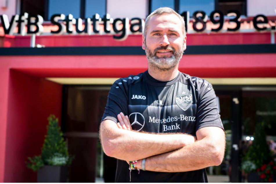 VfB-Trainer Tim Walter (Foto) schiebt einem möglichen Wechsel von Nicolas Gonzalez den Riegel vor.