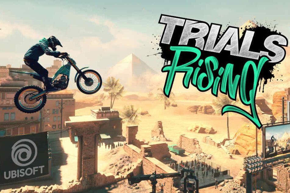 """Mit """"Trials Rising"""" veröffentlichte Ubisoft Ende Februar den dritten Teil seiner beliebten Motocross-Reihe."""