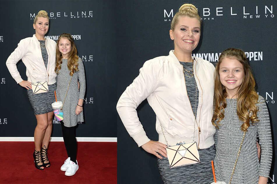 Hübsches Doppel: Anne-Sophie Briest mit ihrer Tochter Faye Montana.