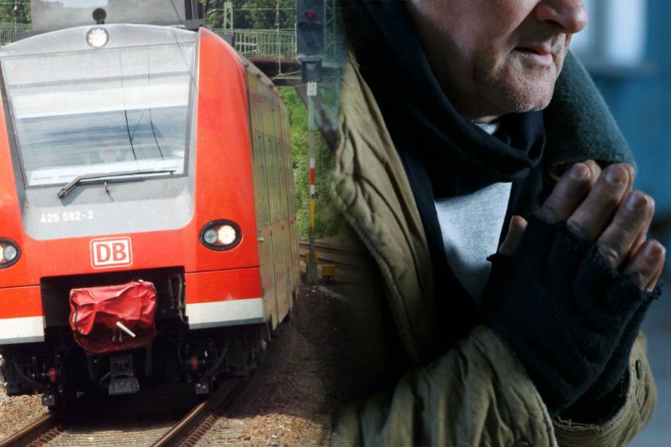 Obdachloser darf nicht in den Zug: Dann hagelt es Schläge und Tritte