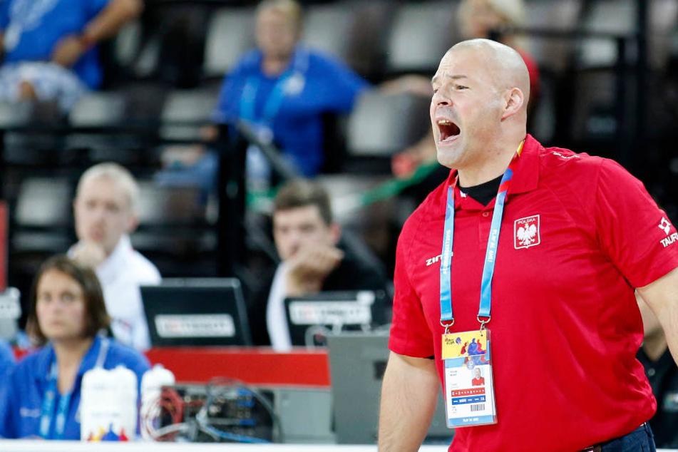 Towers Trainer Mike Taylor (hier noch im Dress der polnischen Nationalmannschaft) war mit dem Auftritt seiner Mannen in Hälfte eins nicht zufrieden.