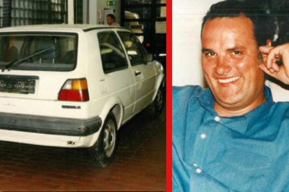 Axel Fritz Bonin (r) gilt seit 21 Jahren als vermisst. Sein Auto (l) wurde ein Jahr nach seinem Verschwinden in St. Pauli entdeckt.