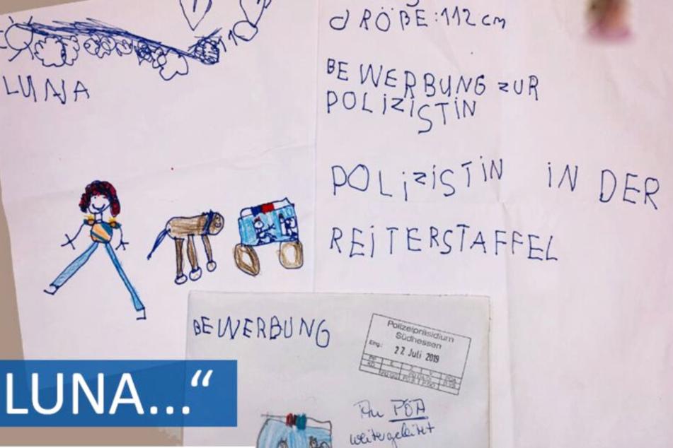 Das Polizeipräsidium Südhessen antwortete der fünfjährigen Luna auf Facebook.