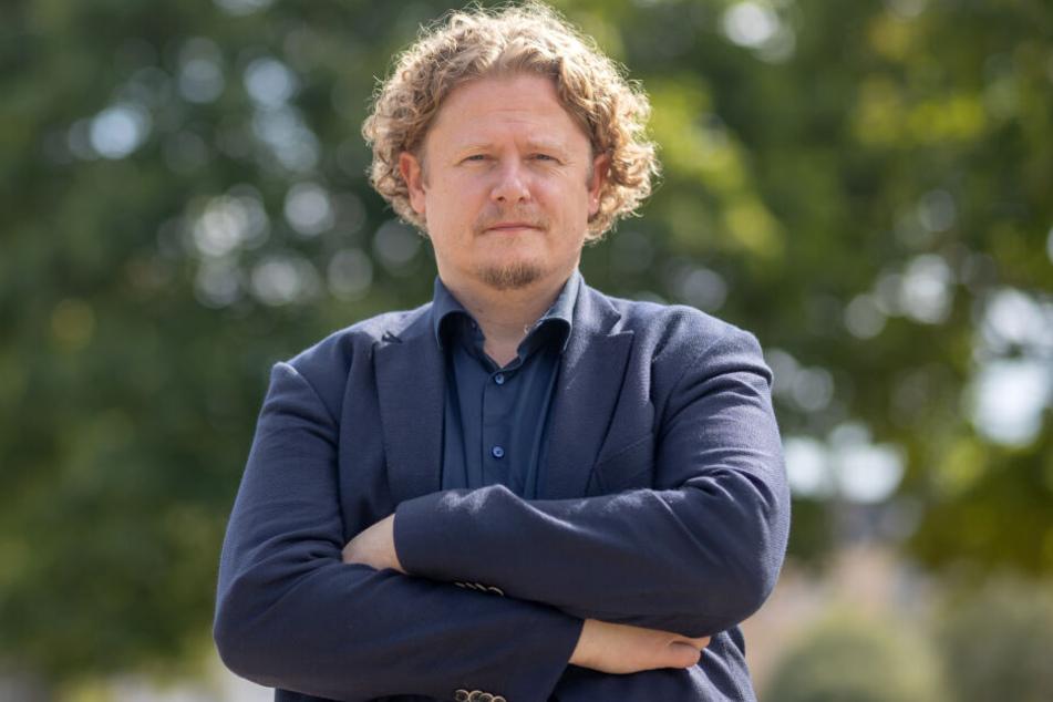 Stadtrat Lars Fassmann (41) trauert der Markenanmeldung für #wirsindmehr nach.