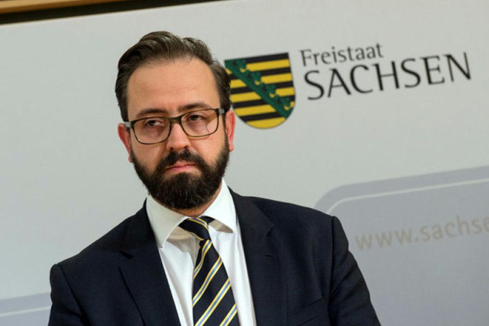 Sachsens Justizminister Sebastian Gemkow musste nach dem Anschlag seine Wohnung aufgeben. Am Montag wird er als Zeuge gehört.