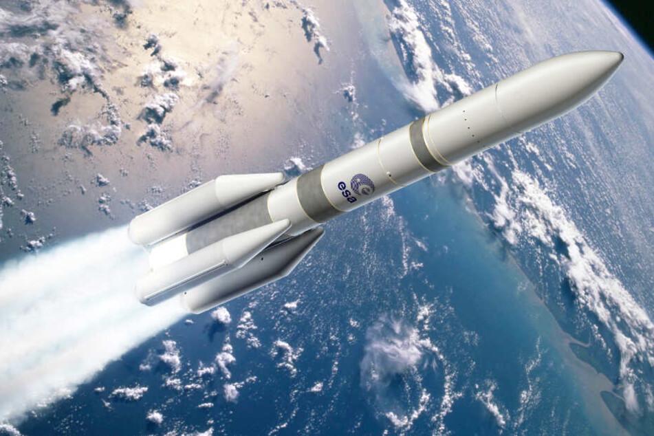 Die Computeranimation zeigt den Start einer Ariane-6-Rakete.