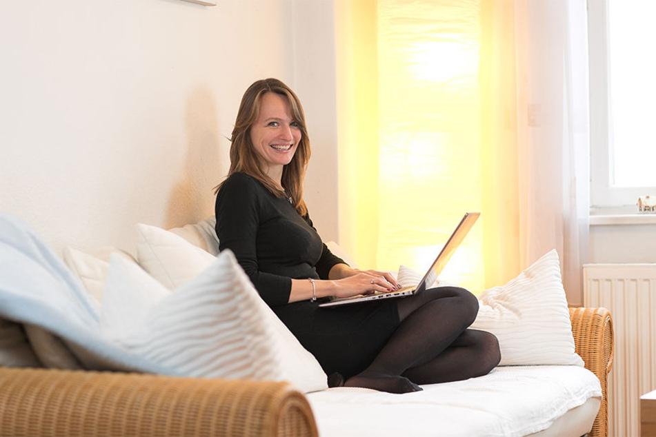 Ihr erstes Werk auf Papier: Bloggerin Nicole Czerwinka ist sonst mit ihrem Dresden-Blog eher im Internet zu finden.