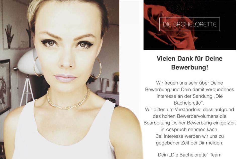 Der Beweis: Radiomoderatorin Franziska Mühlhause (28) hat sich als kommende Bachelorette beworben.