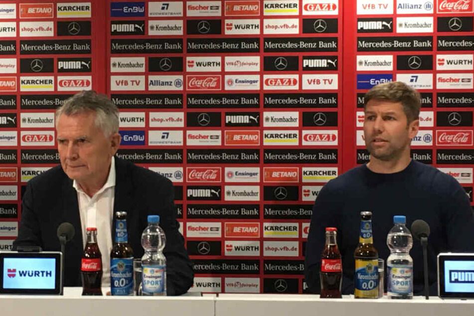 VfB-Präsident Wolfgang Dietrich stellte am Dienstag seinen neuen Sportvorstand Thomas Hitzlsperger vor.