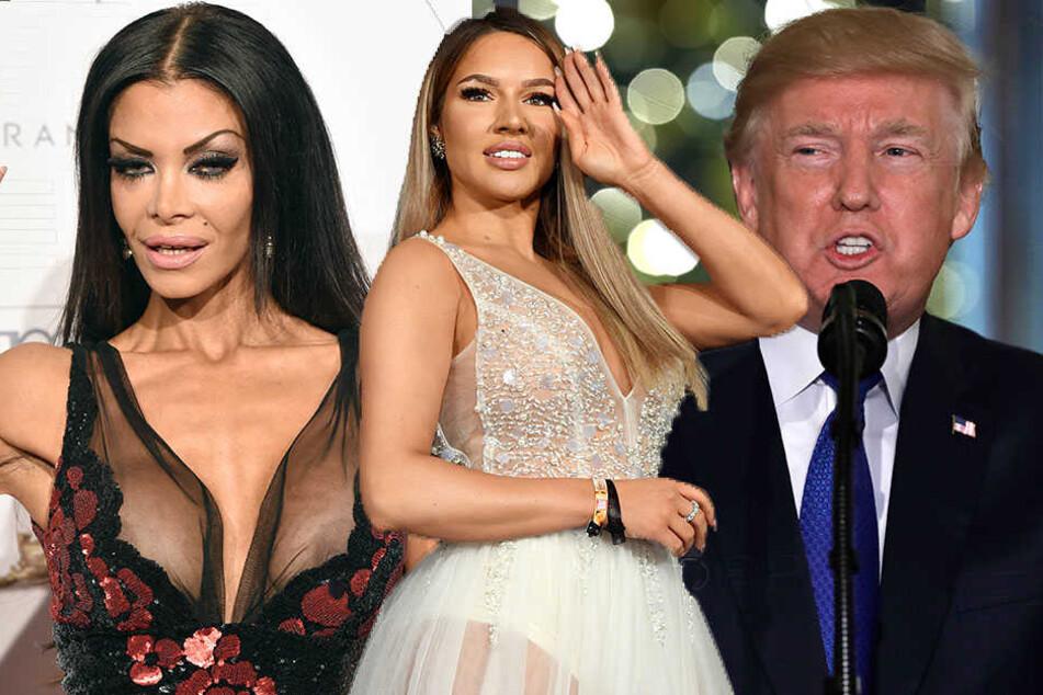 Donald Trump wurde am meisten gegoogelt. Dahinter Shirin David (M) und Kader Loth.