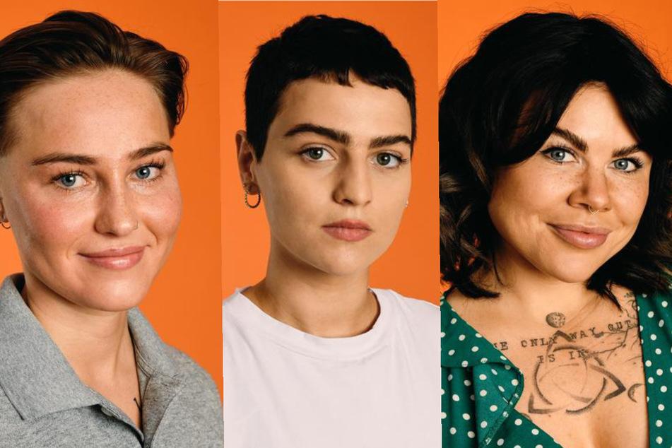 """Die """"Princess Charming""""-Kandidatinnen Elsa (22, l.) Gea (28, M.) und Iry (27). (Fotomontage)"""