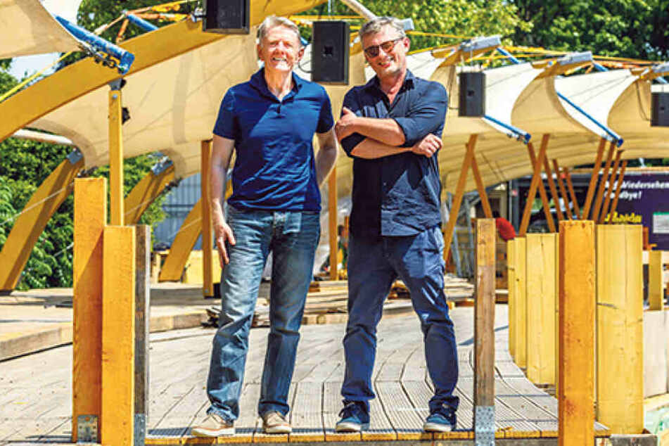 Matthias Pfitzner (50,re.) und Johannes Vittinghoff (63).