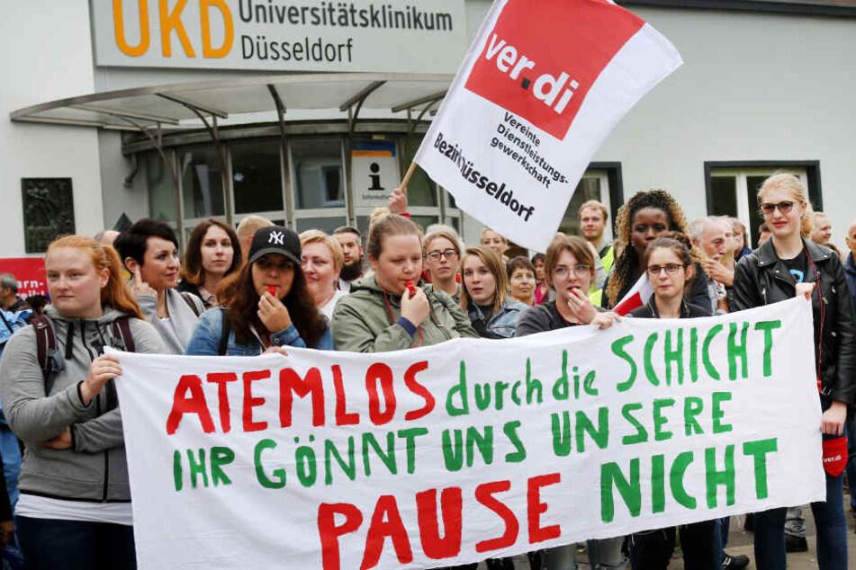 Klinik-Betrieb stark eingeschränkt: Kommt jetzt der unbefristete Streik?