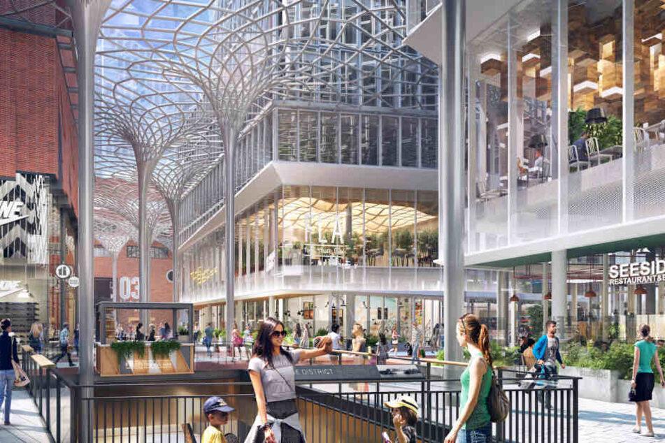 Shopping und Luxus-Boutiquen spielen scheinbar eine übergeordnete Rolle bei der Entwicklung des Überseequartiers in der HafenCity Hamburg.
