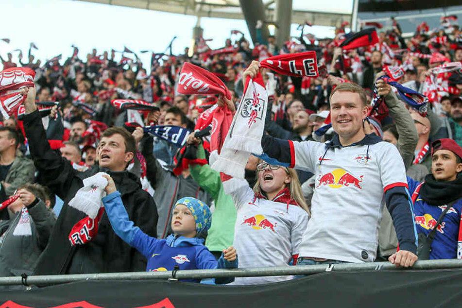 Die RB-Fans kamen gegen Mainz aus dem Jubeln gar nicht mehr raus.