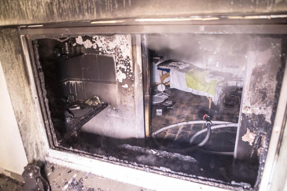 Das Atelier war nach dem Brand nicht wieder zu erkennen.