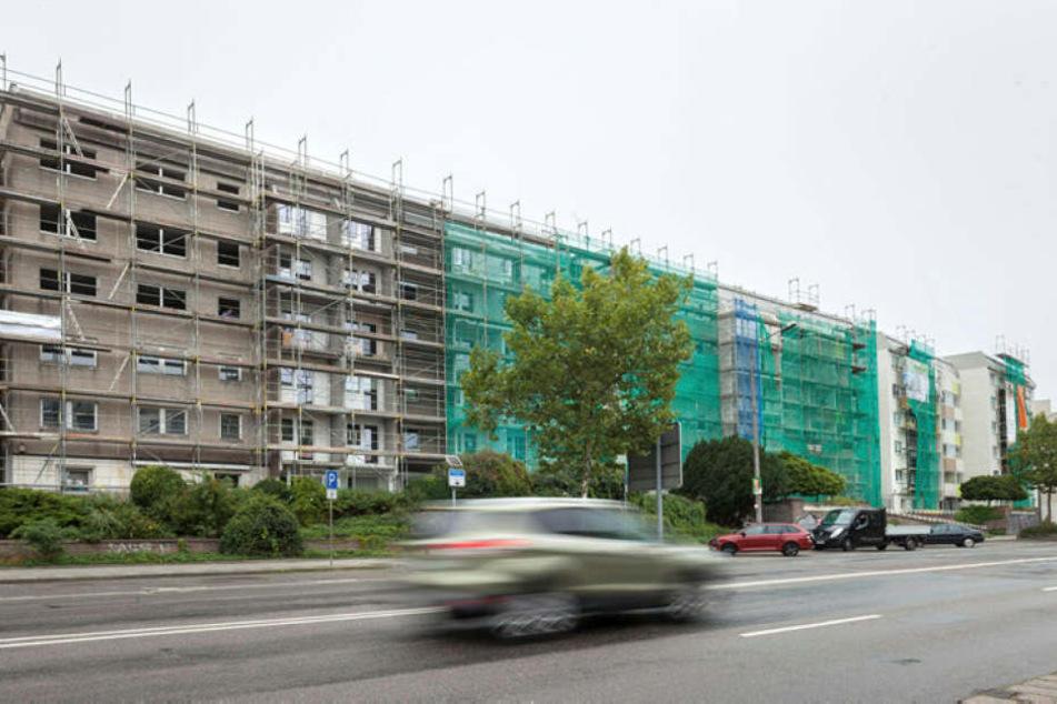 Gerüste, Baulärm in allen Stadtteilen: Investoren haben Chemnitz für sich entdeckt.