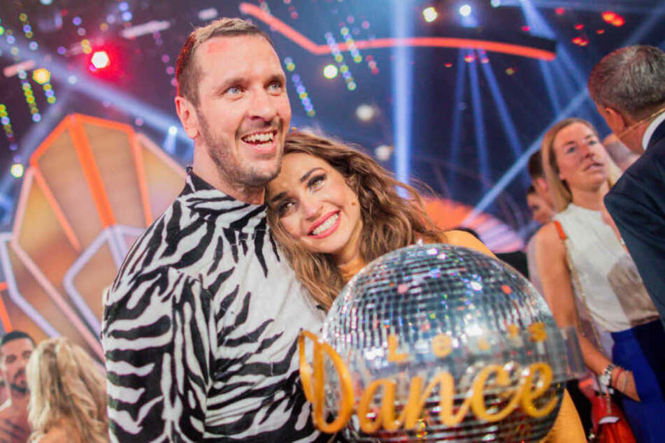 Pascal Hens und Ekaterina Leonova waren nach ihrem Sieg überglücklich.