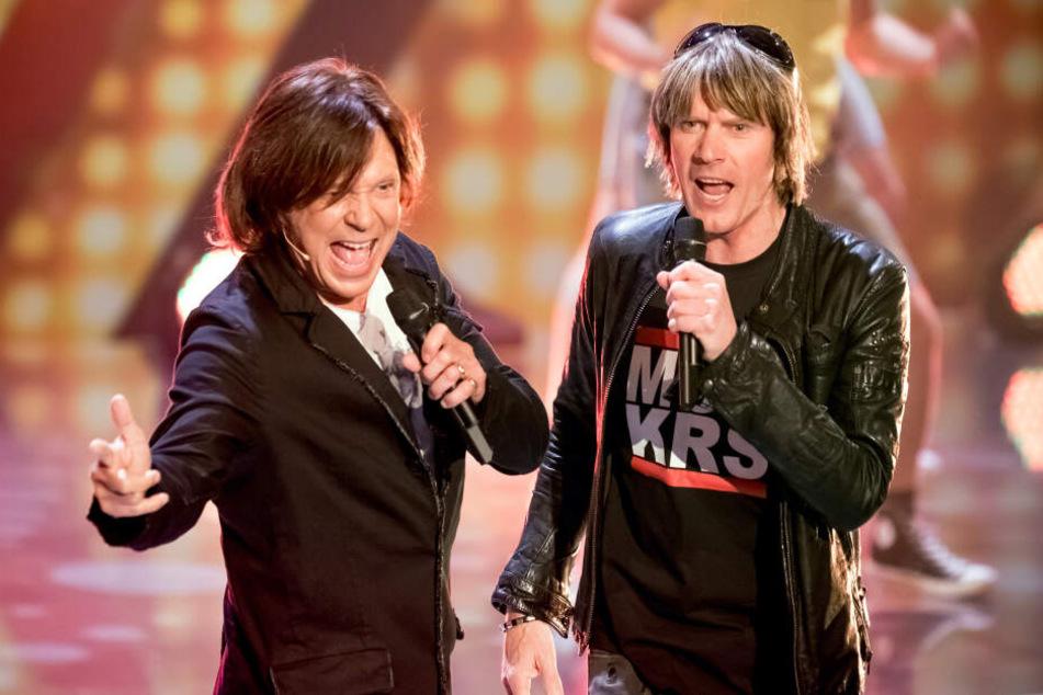 Die Ballermann-Sänger Jürgen Drews (l.) und Mickie Krause haben sich zur Prügelattacke auf Mallorca geäußert.