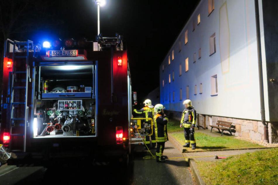 Feuerwehreinsatz in Lauter an Heiligabend.