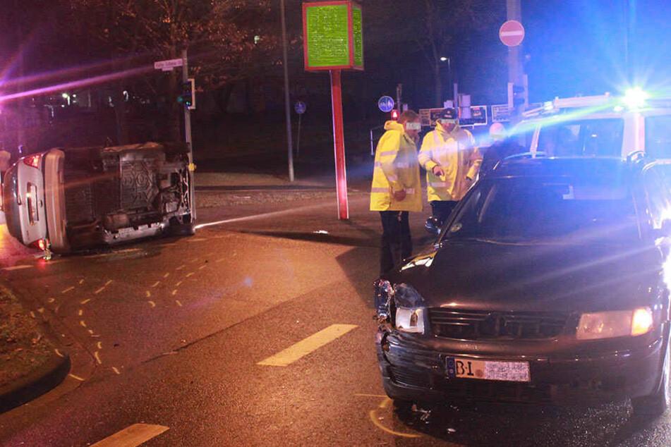 Ein Schaden von ungefähr 15.000 Euro entstand bei dem Unfall.
