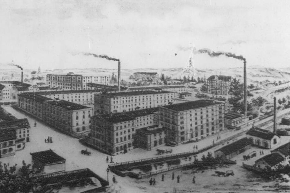So sah die Bienertmühle 1894 aus.