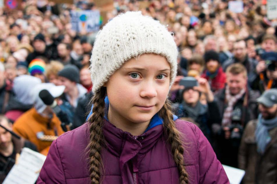 Die junge Aktivistin Greta Thunberg aus Schweden ist zu Gast in Berlin.