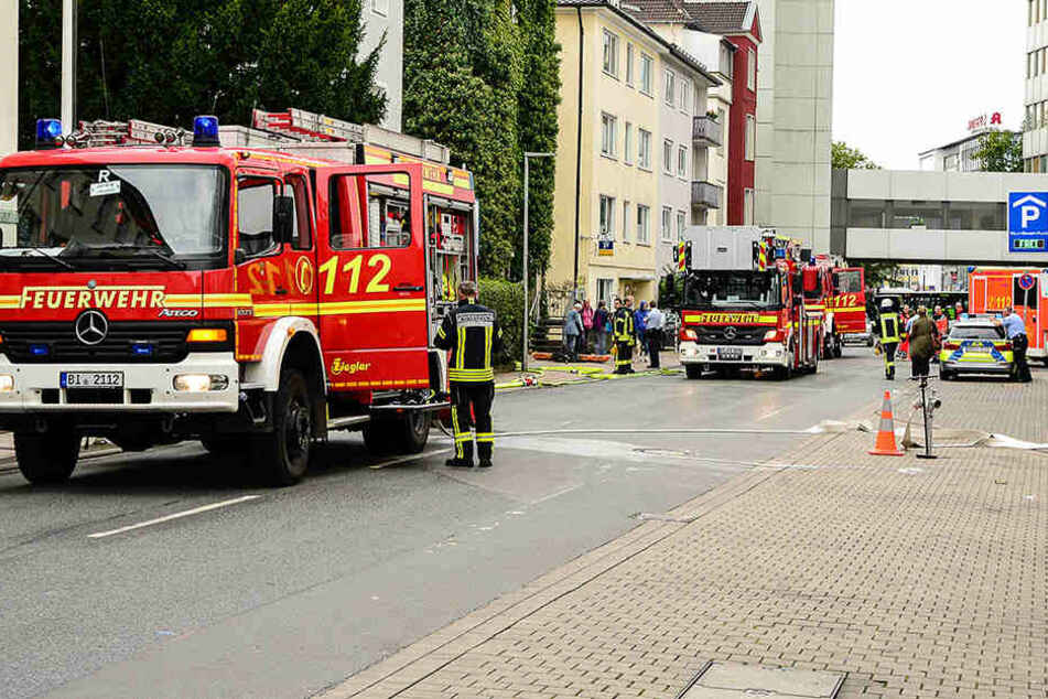 Tiefkühltruhe in Flammen: Keller fackelt ab