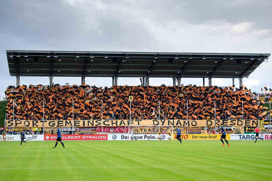 """Die Dynamo-Fans machten ihr """"Auswärtsspiel"""" am 11. August 2017 in Zwickau zu einem Fest. So könnte es wieder werden, wenn Dassendorf in der Tat in Zwickau spielen würde."""