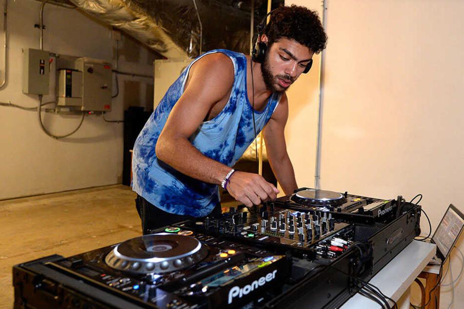 Noah Becker 2013 als DJ bei der Art Basel in Miami.