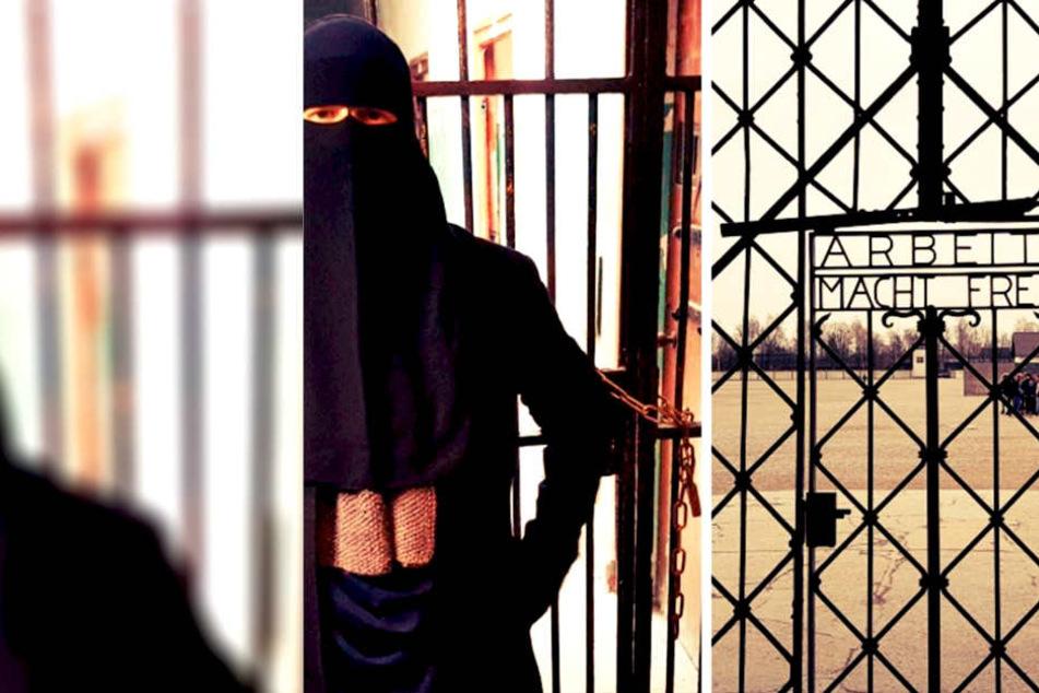 Burka-Aktivistin sorgt mit KZ-Foto für große Empörung