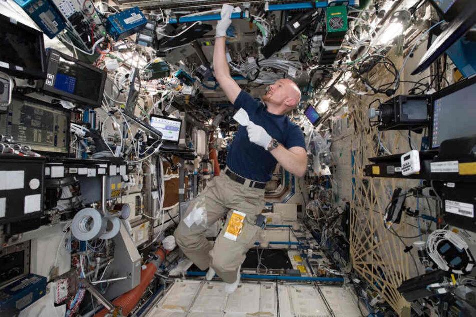 Astronaut Alexander Gerst auf der ISS.