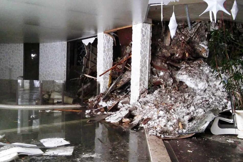 Nach dem Unglück tauchten Fotos aus dem Inneren des Hotels auf.