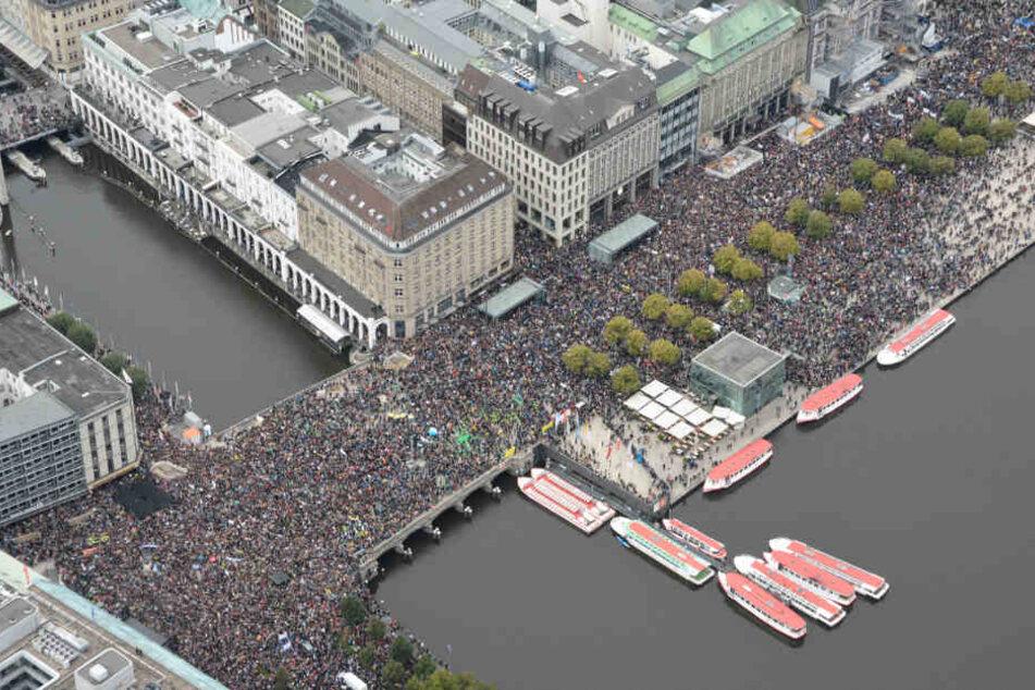 Zehntausende demonstrierten im September bei Fridays for Future in Hamburg für mehr Klimaschutz.