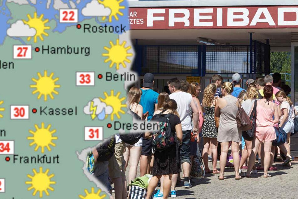 Hitze-Hammer: Montag knackte den Temperatur-Rekord des Jahres