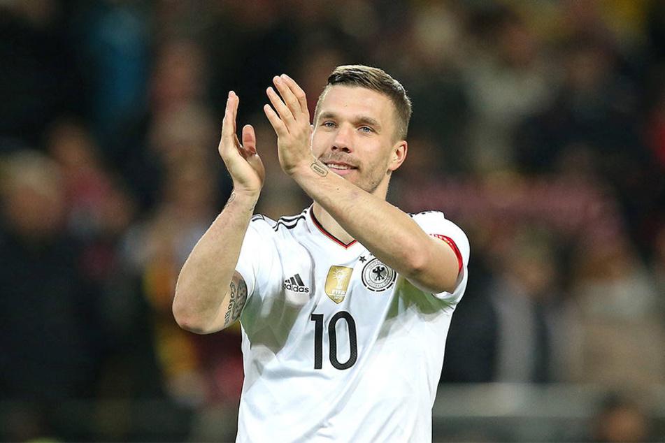 Lukas Podolski (31) spielte insgesamt 130 Partien für den DFB. Dabei erzielte er 49 Tore.