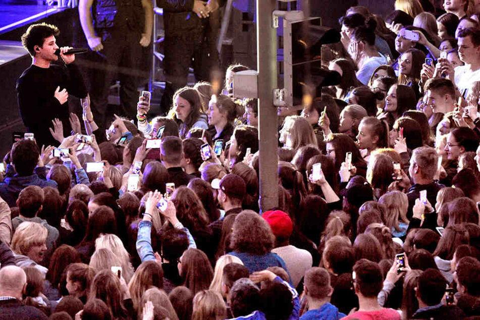 8500 Fans wollten Wincent Weiß (24) sehen.