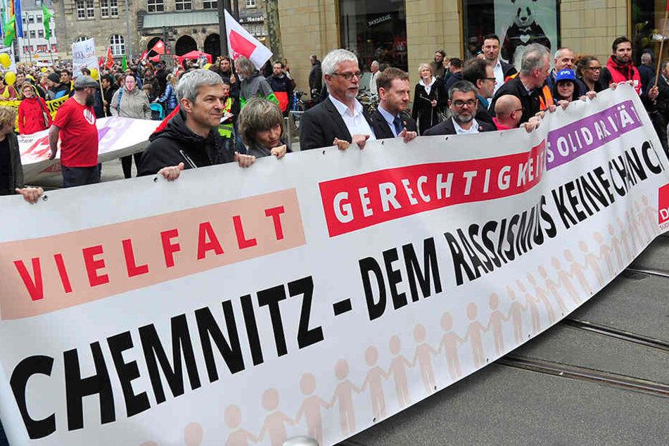 4000 Bürger gegen 700 Neonazis: So lief der Demo-Tag in Chemnitz