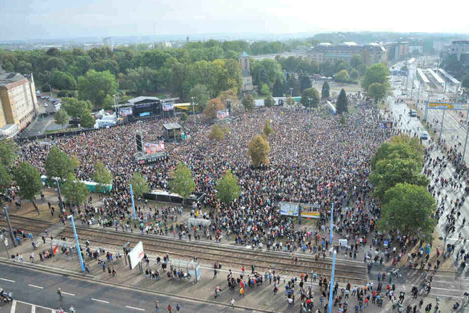 65.000 Besucher kamen zum Konzert gegen Rechts in Chemnitz.