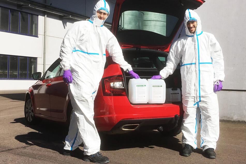 Die Firma Verbio stellt ab sofort Desinfektionsmittel aus dem Biokraftstoff Ethanol her.