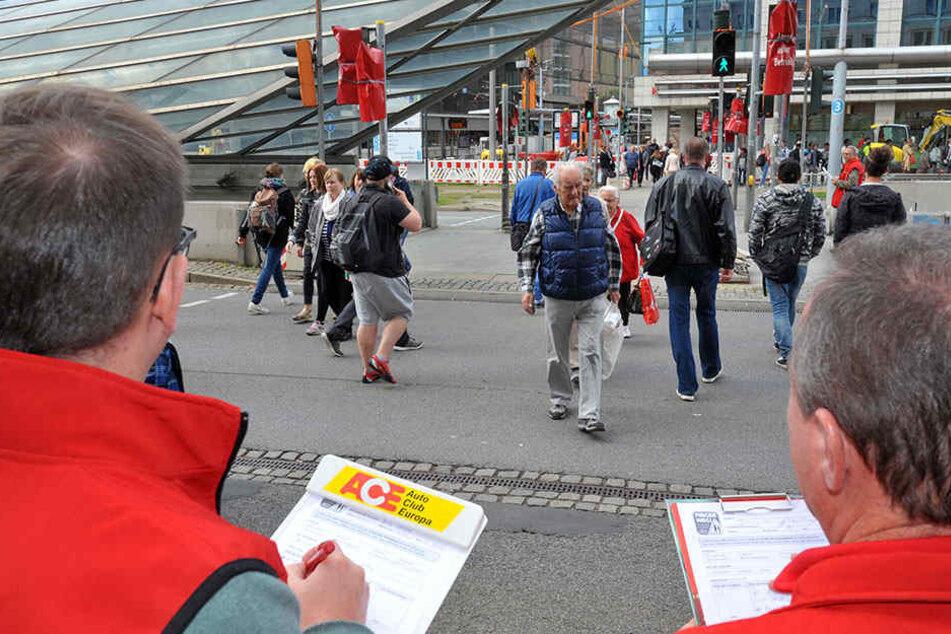 """In Chemnitz wurden die """"Handysünder"""" gezählt"""