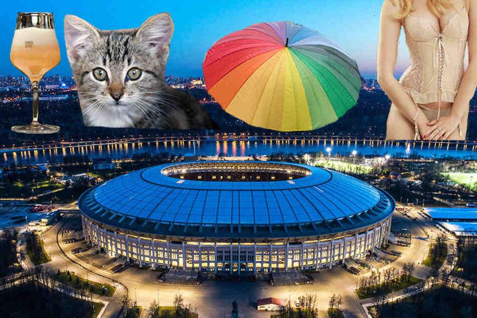Auch Kätzchen und Korsetts sind in den Stadien der WM 2018 verboten!