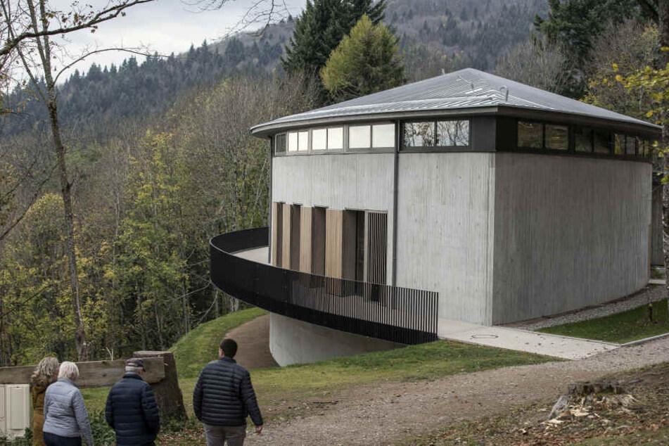 Das deutsch-französische Weltkriegs-Museum auf dem einstigen Schlachtfeld am Vogesen-Gipfel Hartmannsweilerkopf.