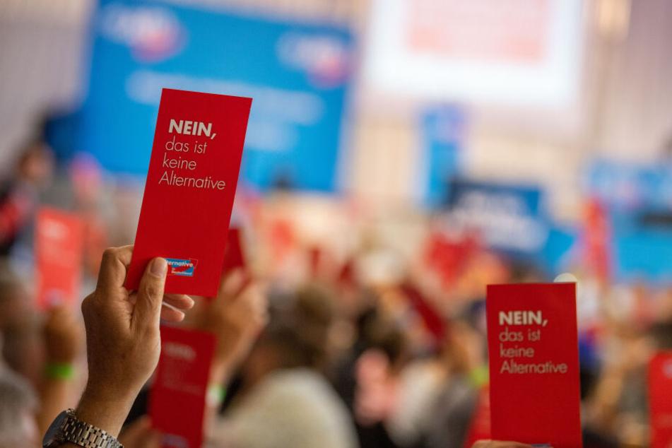 Parteimitglieder der Alternative für Deutschland stimmen während eines Sonder-Landesparteitags der AfD Bayern mit Stimmzetteln ab.