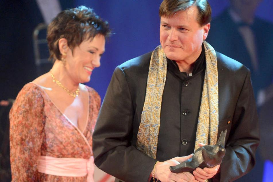 Opernsängerin Waltraud Meier und Dirigent Christian Thielemann hier bei der Verleihung des Kulturpreises der Boulevardzeitung BZ im Juli 2018.