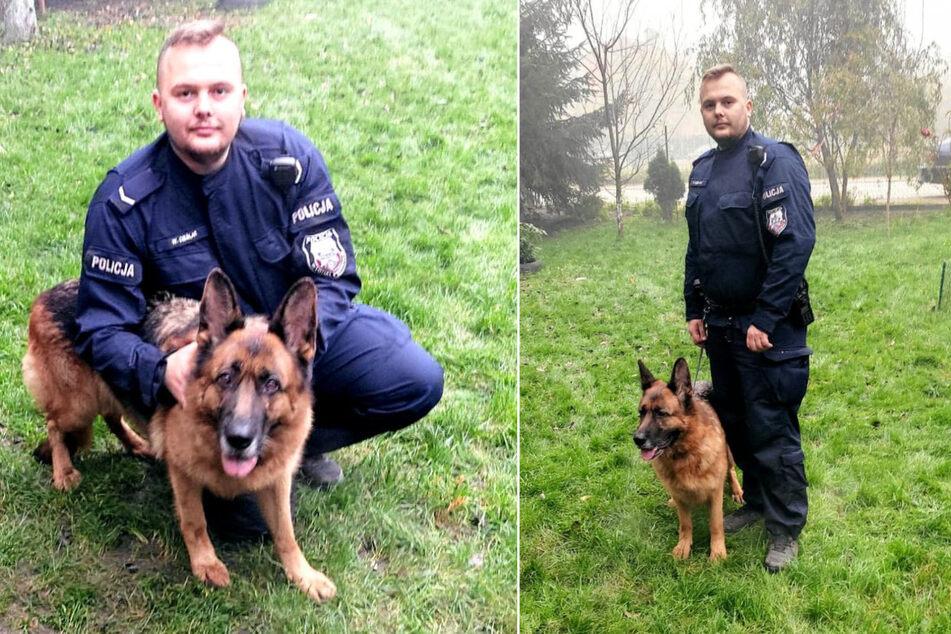 Hotina ist in ihrem neuen Zuhause sehr glücklich, sagte der Polizist Wojciech Cieślar.