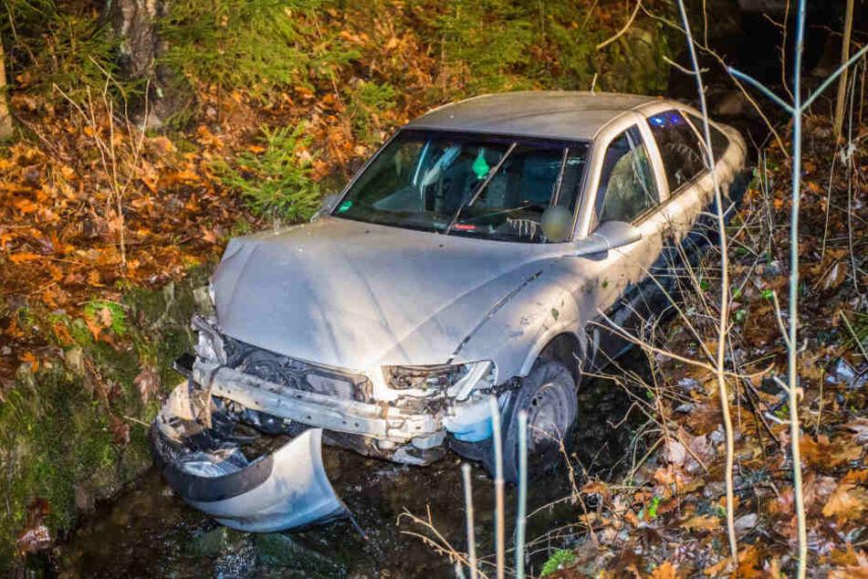 Die Insassen konnten sich selbstständig aus dem Opel befreien.