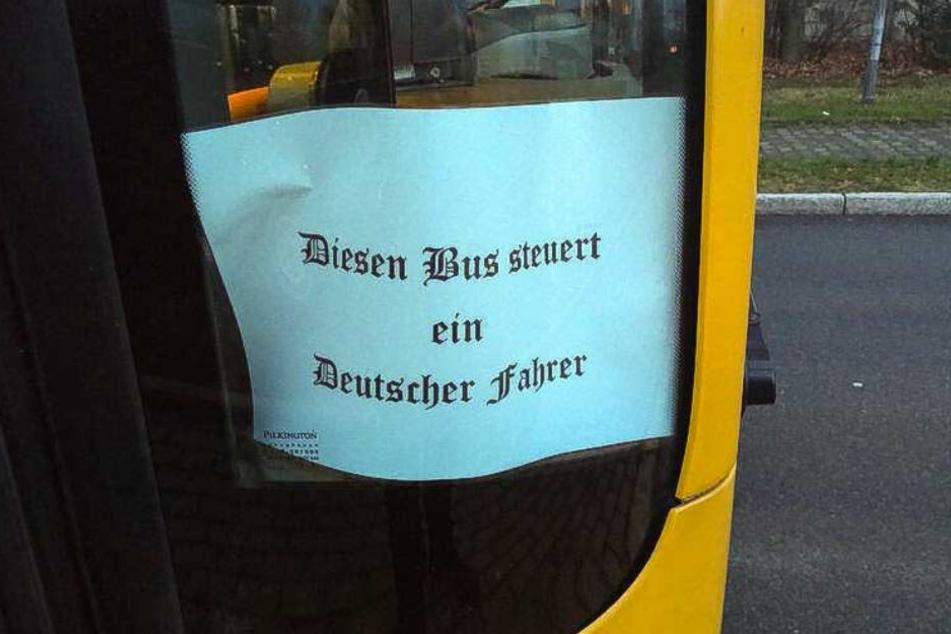 Dieses Schild sorgte bei Peter Dörffel für Entsetzen.