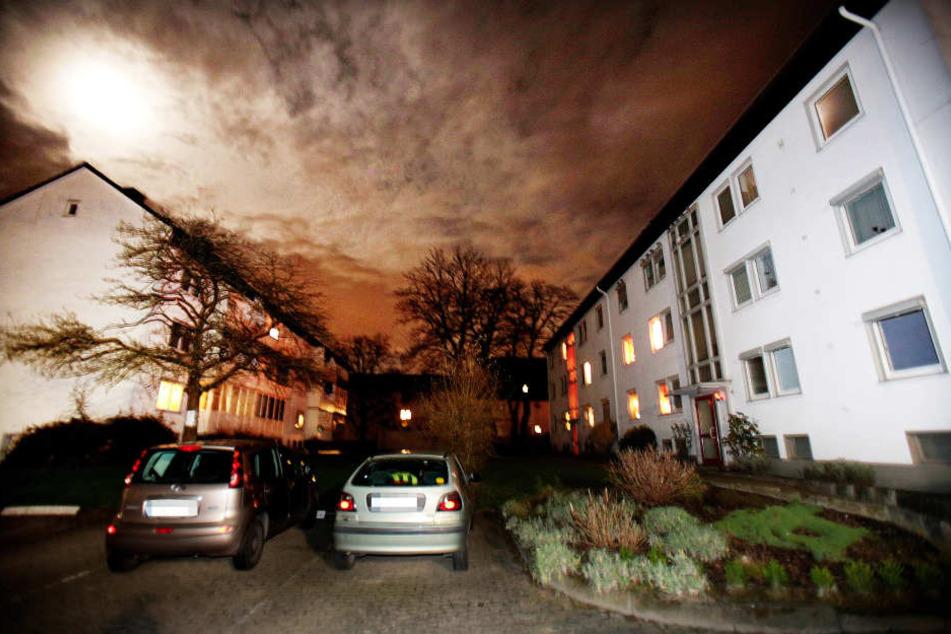 In dieser Siedlung an der Fahrenkampstraße lauerten die Angeklagten dem Opfer auf.
